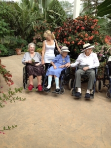 Residents enjoying the Gardens at RHS Wisley on a warm summers day