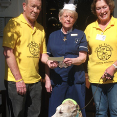 Pets as Therapy cheque presentation