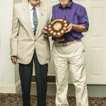 Bob & John with the Croquet trophy