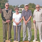 Croquet Pairs residents who reached the final