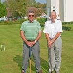 Mike & John ready to start the Croquet Final