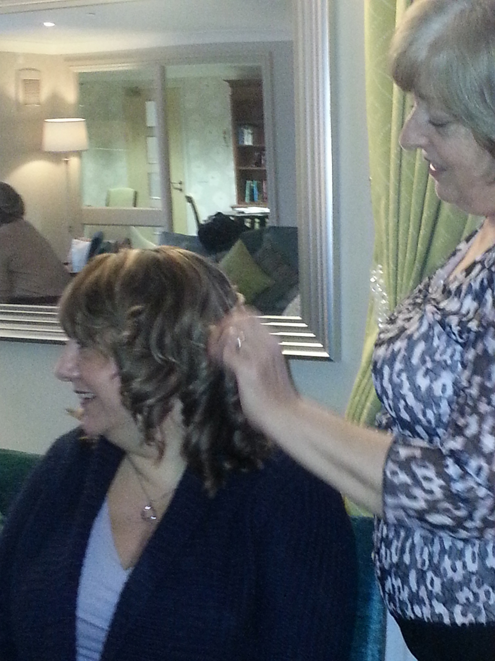Hairdresser at well-being event