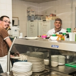 RV staff Mike and Andy in the Lime Tree kitchen